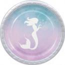 Elegant Mermaid, Mermaid Paper Plate 8 pcs 23 cm