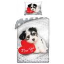 Love Dog, Dog bedding 140 × 200cm, 70 × 90 cm