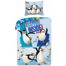 Penguins of Madagascar bed linen 140 × 200cm