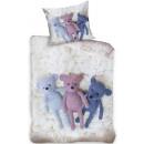 Teddy bear, Plushmaci bed linen 140 × 200cm, 70 ×