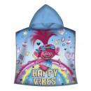 Trolls , Trolls beach towel poncho 50 * 100cm