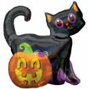 Großhandel Geschenkartikel & Papeterie: Hologramm schwarze Katze schwarze Katze Folienball