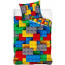 Cegły, LEGO wzorzysta pościel 140 × 200cm