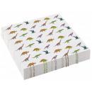 wholesale Gifts & Stationery: Dinosaur , Dinosaur napkin 20 pieces, 25 * 25 cm
