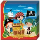groothandel Stationery & Gifts: Piraat, piraat servetten 20 stuks