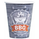 BBQ paper cup with 8 pieces of 250 ml
