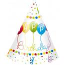 Happy Birthday Party hat with 6 pcs
