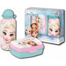 groothandel Licentie artikelen: Sandwich Box Set +  aluminium fles water Disney Fro