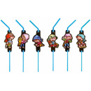 Pirate, Pirate drinking straw, set of 8
