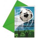 Uitnodiging van de Partij van de voetbal 6 stuks