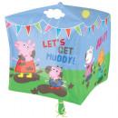 Peppa Pig Foil balloon cube 38 cm
