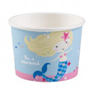Mermaid, Mermaid paper ice cream cup with 8 pcs 27