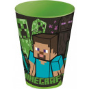 Minecraft glass, plastic 430 ml