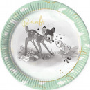 Talerz papierowy Disney Bambi Cutie z 8 szt. 23 cm