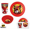 Tableware, plastic set for Disney The Incredibles