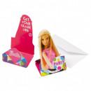 Barbie feestuitnodiging 8 st