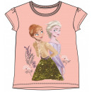 wholesale Licensed Products: Disney Ice Magic Sequined Kids Short T-Shirt 3-8 y