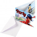 Miraculous Ladybug Party Invitation 8pcs