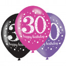 mayorista Regalos y papeleria: Happy Birthday 30 globos con 6 globos.