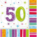 Happy Birthday 50 napkins of 16 pieces 33 * 33 cm