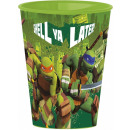 Ninja Turtles glass, plastic 260 ml
