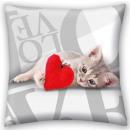 Love Cat, Cicás párna, díszpárna 40*40 cm