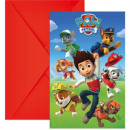 Paw Patrol , Paw Patrol Party Invitation 6pcs