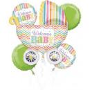 Baby folie ballonnen Set met 5 stuks