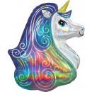Hologram Unicorn, Unikornis Foil balloons 76 cm