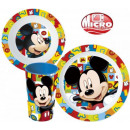 Tableware, plastic micro Set Disney Mickey