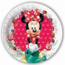 Disney Minnie Plato de papel 8 piezas de 19,5 cm