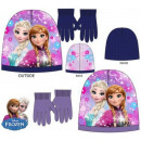 Kids cap + glove set Disney frozen