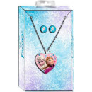 wholesale Earrings: Disney frozen , Ice Magic Necklace + Earring Set