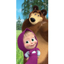 Masha and bear bath towel, beach towel