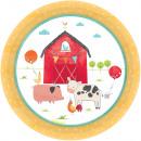 Barnyard, Pata ranch Paper plate 17,8 cm