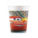 wholesale Gifts & Stationery: Disney Cars 3, Verdák Paper Glass 8 pcs 200 ml