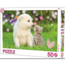 Kitten, dog puzzle 50 pieces