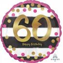 Happy Birthday 60 balonów foliowych 43 cm