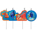 Disney Nemo and Dory cake candle, 4 candles