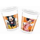 groothandel Huishouden & Keuken: Disney Mickey  Halloween Plastic bekertjes 8 stuks