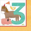 mayorista Articulos de fiesta: Barnyard, Pata Farm 3 servilletas con 16 piezas 32