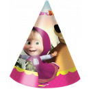 Masha and the Bear Part hat, 6 pcs