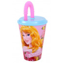 Szívószálas pohár Disney Hercegnők, Princess 430ml