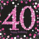 Happy Birthday 40 napkins 16 pcs 33 * 33 cm