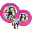 Tableware, plastic sets of Disney Soy Luna