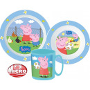 Peppa pig tableware, micro plastic set