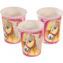 Horse, The Horses paper cup 8 pieces 250 ml