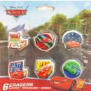 Eraser Set 6 Disney Cars , Verdas