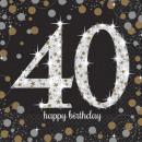 nagyker Parti kellékek: Happy Birthday 40 szalvéta 16 db-os 33*33 cm
