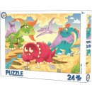 wholesale Toys: Dinosaur puzzle in 24 pieces